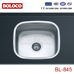 Europe Middle Polish/Satin/Ele-pearl Single bowl One piece rectangle/Square Kitchen Sink 304# 201# BL845