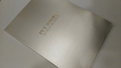 Gold foil cover PET Woman fashion brochure for famous brand manufacturer