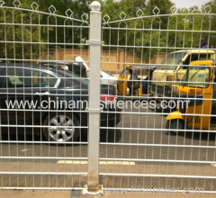 Steel Road Safety Fence with double wire