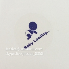 Simple Design Custom Transparent Label PET Sticker Clear Vinyl Sticker Printing Transparent Clear Circle Sticker