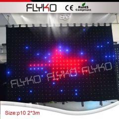 led light solar panel Rgb Led Video Curtain /Tv Show Backdrop