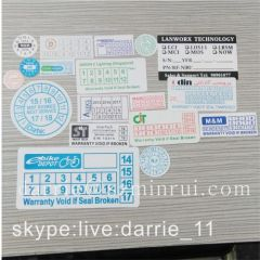 Destructible label paper manufacturer custom any design printed destructive vinyl sticker