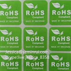 Cheap Price ROHS Sticker Square Custom Vinyl Sticker Printing Tamper Evident ROHS Paper Sticker