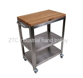 Kitchen mobile stainless steel hotel hand trolley