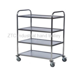 Stainless steel food moving service hand cart