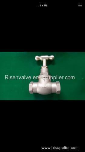 Bronze valve with thread end