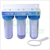 3 stages transparent kitchen pipe housing Water Filters