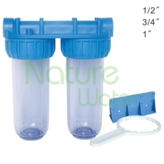 double clear water filter housing