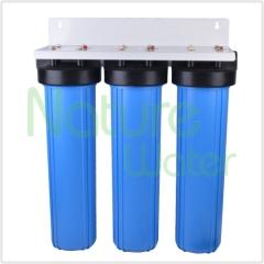 """Carcasa de filtro azul triple jumbo de 20 """""""