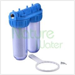 Double water filter Clear housings