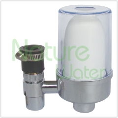 chromed tap filter with ceramic filter inside