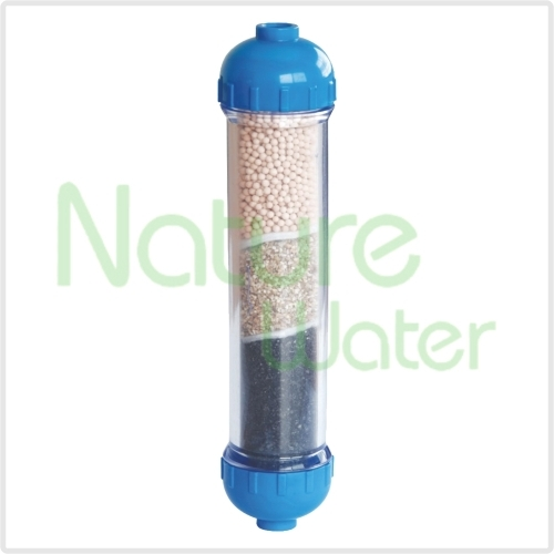 post inline carbon filter with energy ball
