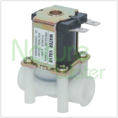 Solenoid valve with flow limit