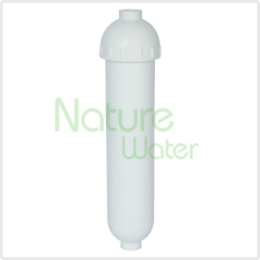 clear in-line water filter housings