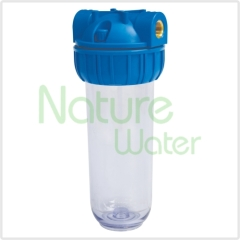 clear inline water filter housing