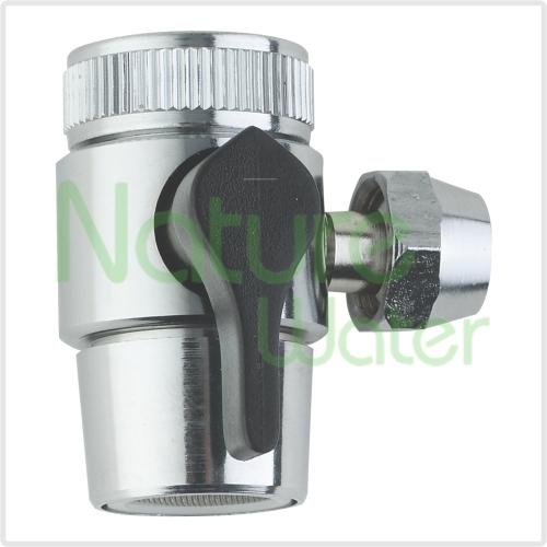 counter top water filter input divert