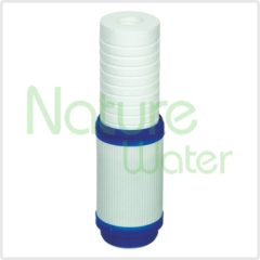 granulat activated carbon filter with pp upside