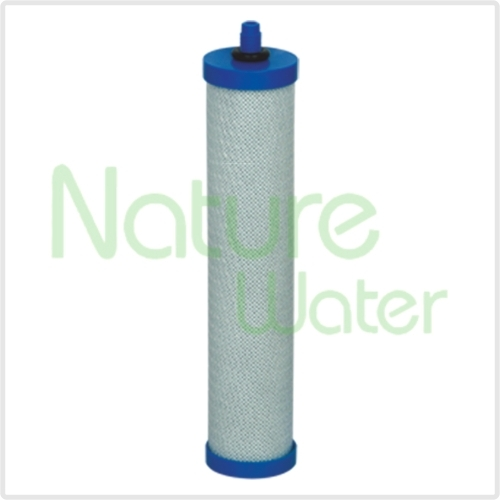 block carbon filter cartridge with blue cup