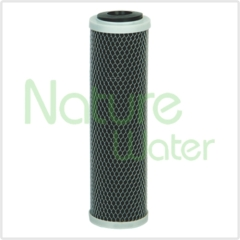 10 inch black block carbon filter cartridge