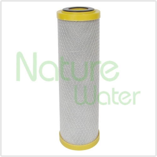 block carbon filter cartridge with yellow cup