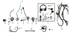 FIGURE 15 ELECTRICAL-PARTS/LOCK ASSY