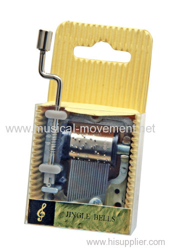 Hand Cranked Music Boxes Corrugated Carboard 18 Note Musical Mechanism