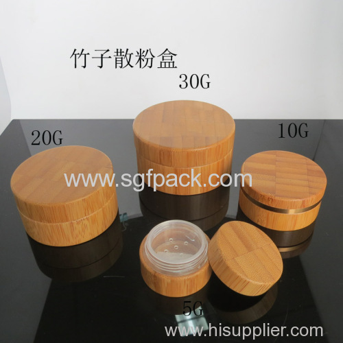 Natural package bamboo cream jar