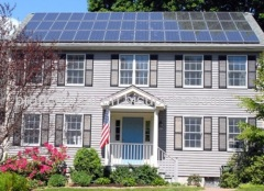 off-grid residential solar panel power system for home