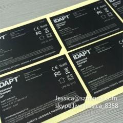 Custom Adhesive Waterproof Logo Labels Permanent Adhesive Stickers Die Cut Vinyl PET Sticker