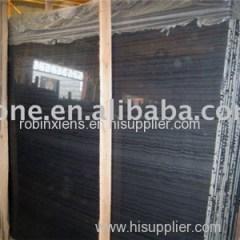 Antique Black Wooden Marble Slab