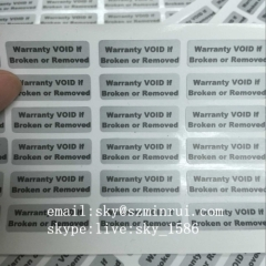Tamper Evident Warranty Void Labels