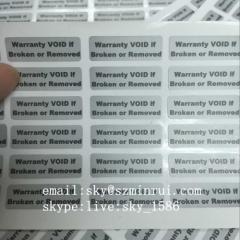 Tamper Evident Warranty Void Labels