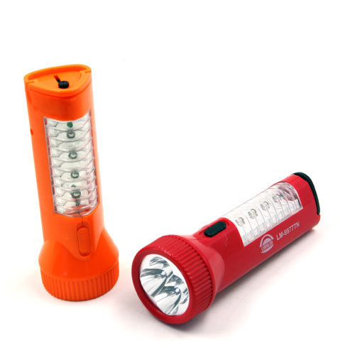 Super Bright Flashlight With 4+4 LED