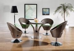 Rattan bar stool set furniture manufacturer in China