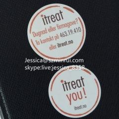 Fashion Design PET Bottle Transparent Label Sticker Die Cut Strong Adhesive Vinyl Sticker Security Transparent Label