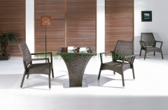 Rattan bar stools furniture set wicker bar table chairs