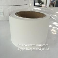 Shenzhen Minrui Custom Destructible Vinyl Label Materials Self Adhesive Matte White Fragile Label Material Rolls