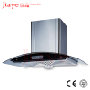 5 speed curved glass chimney cooker hoods