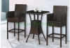 Coffee color rattan bar high chair furniture set designer