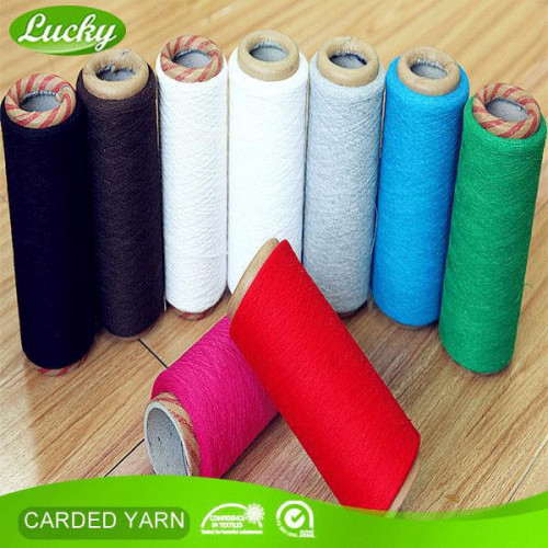 Recycled colored towel yarn