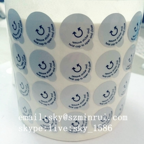 Cosmetic Security Labels Seals/matt silver pet label/ from