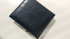 Custom leather cover notepad box printing lined with lint cloth