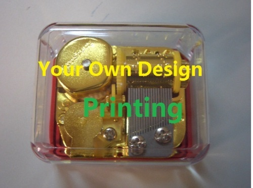 CUSTOM YOUR OWN DESIGN TRANSPARENT WIND UP MUSIC BOX