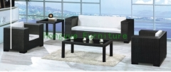 Grey wicker rattan sofa set furniture with cushions