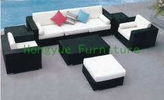 Corner sofa in rattan materials with cushions supplier in China