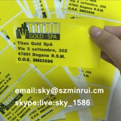 irremovable sticker/ultra destructible label materials/ultra destructible vinyl china