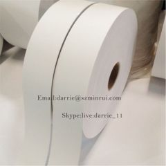 China largest factory of destructible vinyl label material Minrui wholesale Eggshell sticker paper.