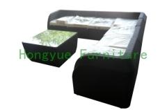 Rattan garden sofa set furniture with cushions