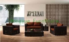 New PE rattan sofa set furniture with cushions rattan furniture set