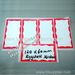 Blank Border Printing Eggshell Graffiti Stickers For Doodles
